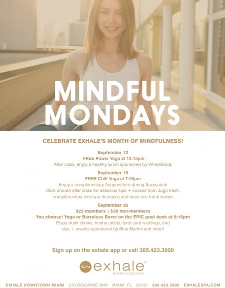Celebrate Exhale's Month of Mindfulness!